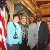 Senator and Mrs. Derrick T. Simmons visited with Greenville residents Bright Hayes and Jaye Gramling at the Capitol.